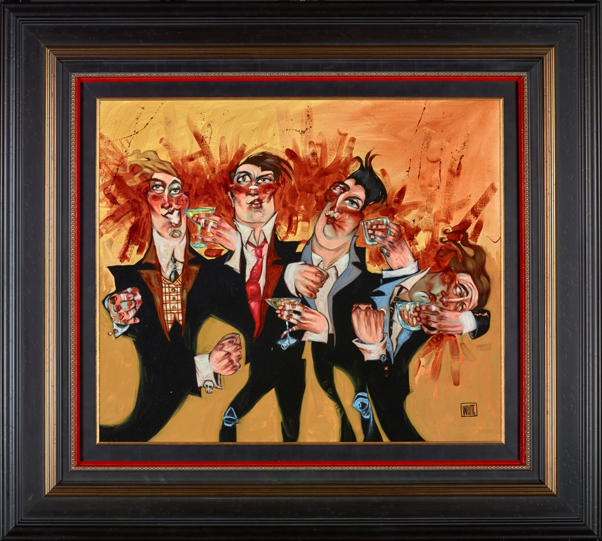 Drinking Punches by todd white -  sized 27x23 inches. Available from Whitewall Galleries